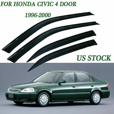 US Smoke Window Sun Visor Vent Guard Deflector Fit Honda Civic Sedan 4DR 96-00