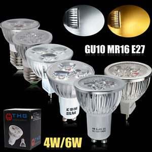 10 x 4W GU10 LED Bulbs Spotlight Lamps Cool Day White Down lights 240V 6500k A+