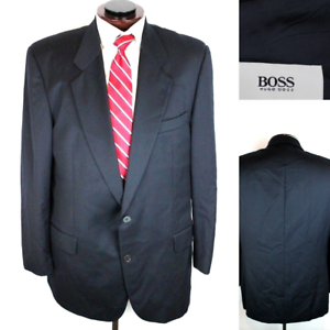 270308ec8 Hugo Boss Mens Black Made USA 100% Wool 2 Button Suit Jacket Size ...