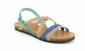 Grunland Demy SB0712 With Ottanio-Multi Women's Sandals Buckle Cosy Real Leather