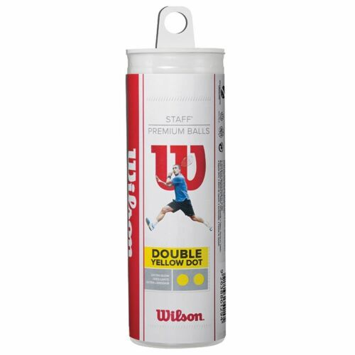 Wilson Staff Squash 3 Ball Tube (Double Yellow Dot)