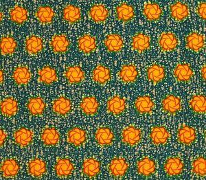 African Fabric 1//2 Yard Cotton Wax Print PINK ORANGE YELLOW Abstract BTHY
