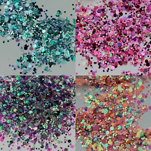 Glitter Mixes 5g, 10g, 50g OR 500g-Face Eye Body Festival Clubbing Cosmetic MUA