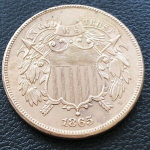 1865 Two Cent Piece 2c Choice High Grade BU Details #27713