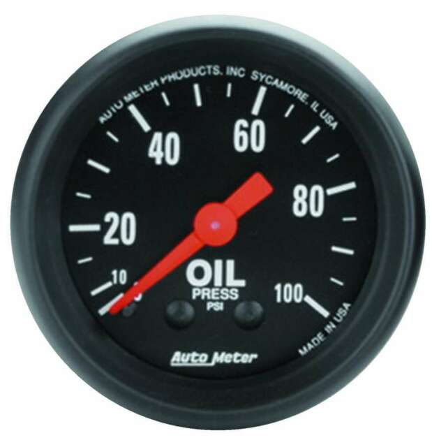 "Auto Meter 2604 Gauge Oil Press 2 1/16"" 100psi Mechanical Z Series"