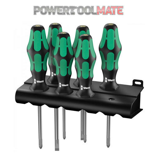 Wera 105622 6 Piece Kraftform Plus Lasertip Screwdriver Set PZ, SL, PH