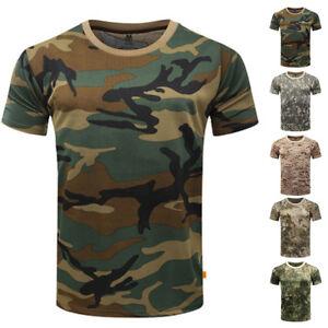 Camo Shirt Corta Hot Mimetico T Uomo Manica Militare GpzSUVqM