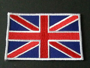 NATIONAL WORLD COUNTRY EMBROIDERED FLAG SEW/IRON ON PATCH:- GREAT BRITAIN (b)