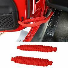 1 Pair Car Door Limiting Strap Bandage Rope For Jeep Wrangler Yj Cj Tj Jk Parts Fits 1999 Jeep Wrangler