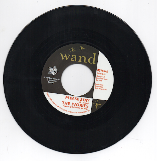 THE IVORIES Please Stay / I'm In A Groove NEW NORTHERN SOUL 45 (OUTTA SIGHT) 60s
