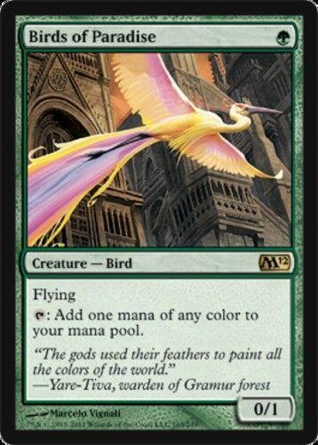 Birds of Paradise 1x English -BFG- MTG Magic Magic 2012 Near Mint x1