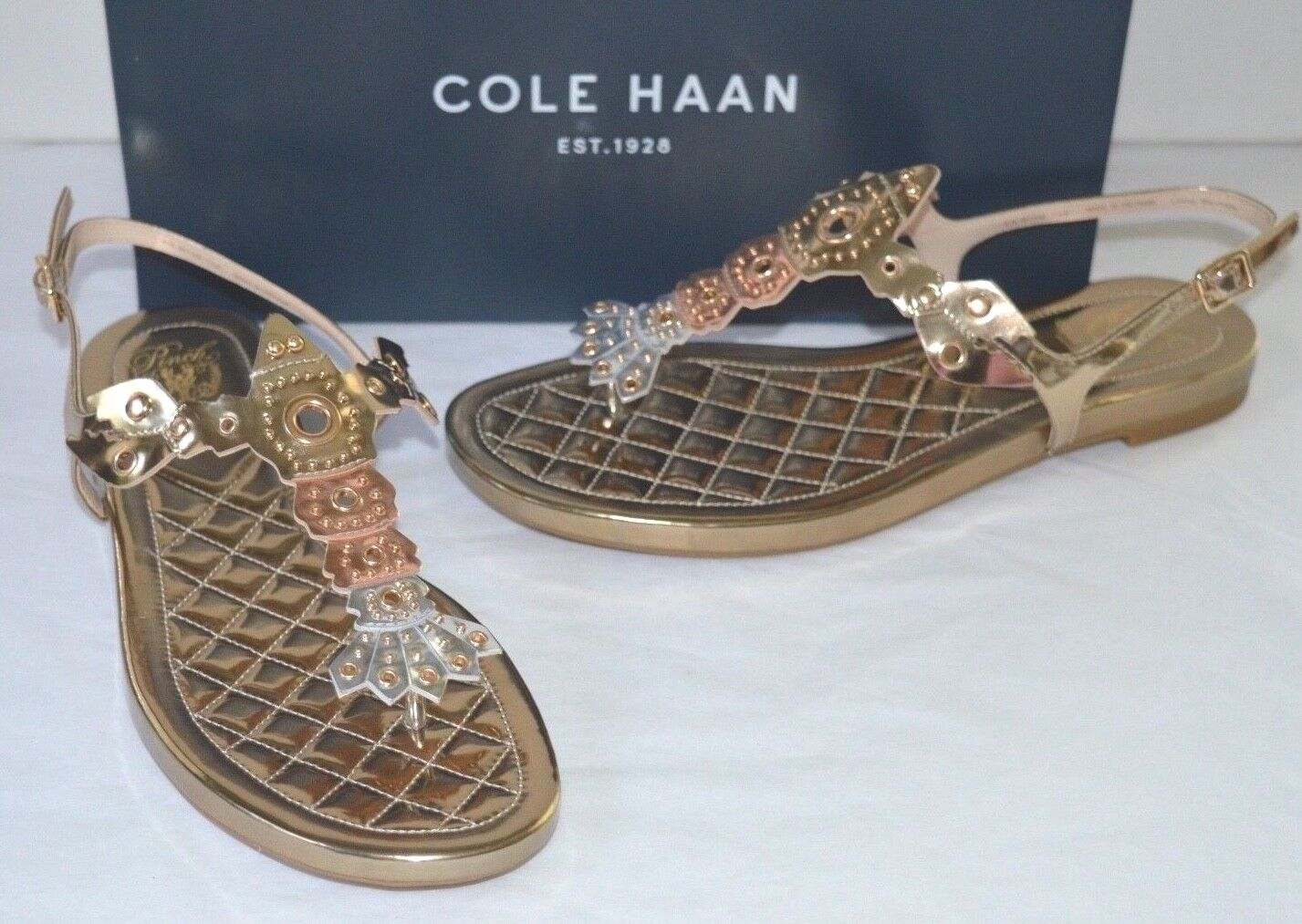 New  130 Cole Haan Pinch Leather Lobster Sandal or Rose or T-Strap Thong