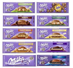 Details About Milka Big Bars Chocolate Collection Two 2 Bars Of Your Choice