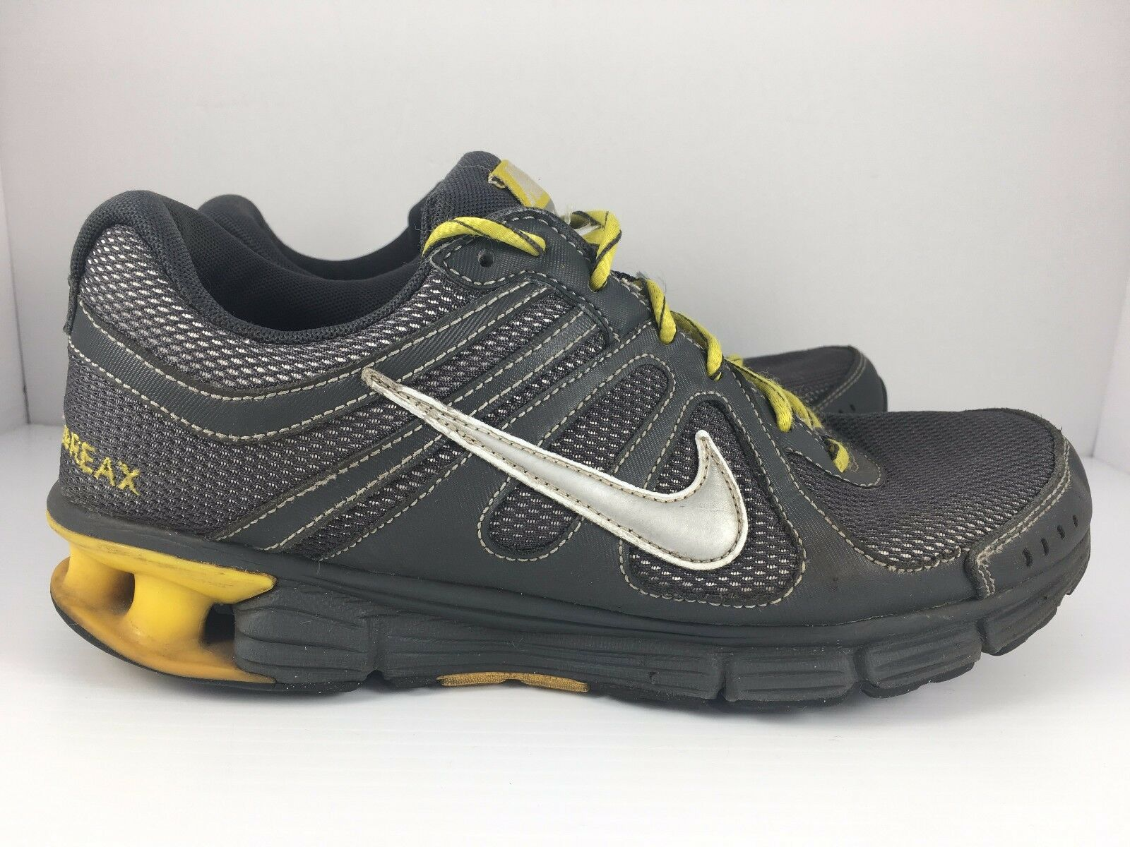 Nike Reax Rocket Men US 8 Yellow + Gray Athletic Trainers Running Shoes Wild casual shoes