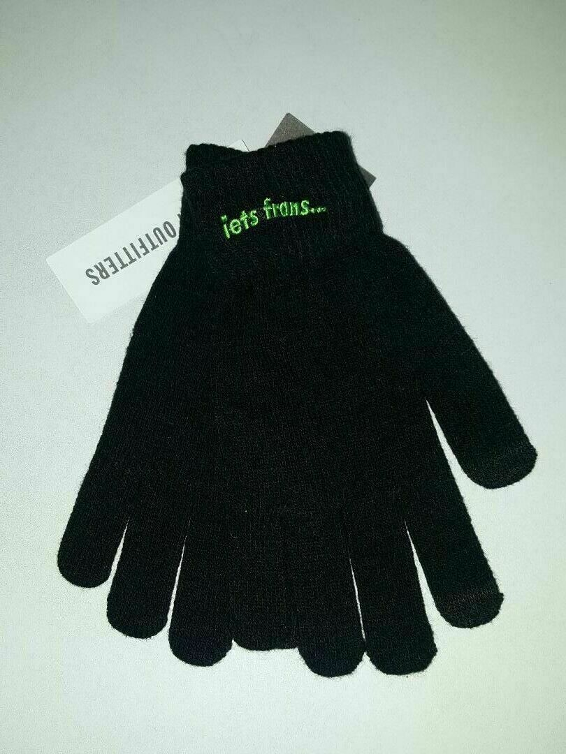 iets frans... Black Magic Touchscreen Gloves Black Unisex One Size New with Tag