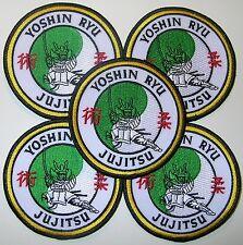 5 BRAND NEW! Yoshin Ryu Jujitsu Jiu Jitsu BJJ Jujutsu Judo MMA Samurai Patches