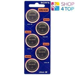5-SONY-CR2430-LITHIUM-BATTERIES-3V-300-MAH-CELL-COIN-BUTTON-EXP-2029-NEW