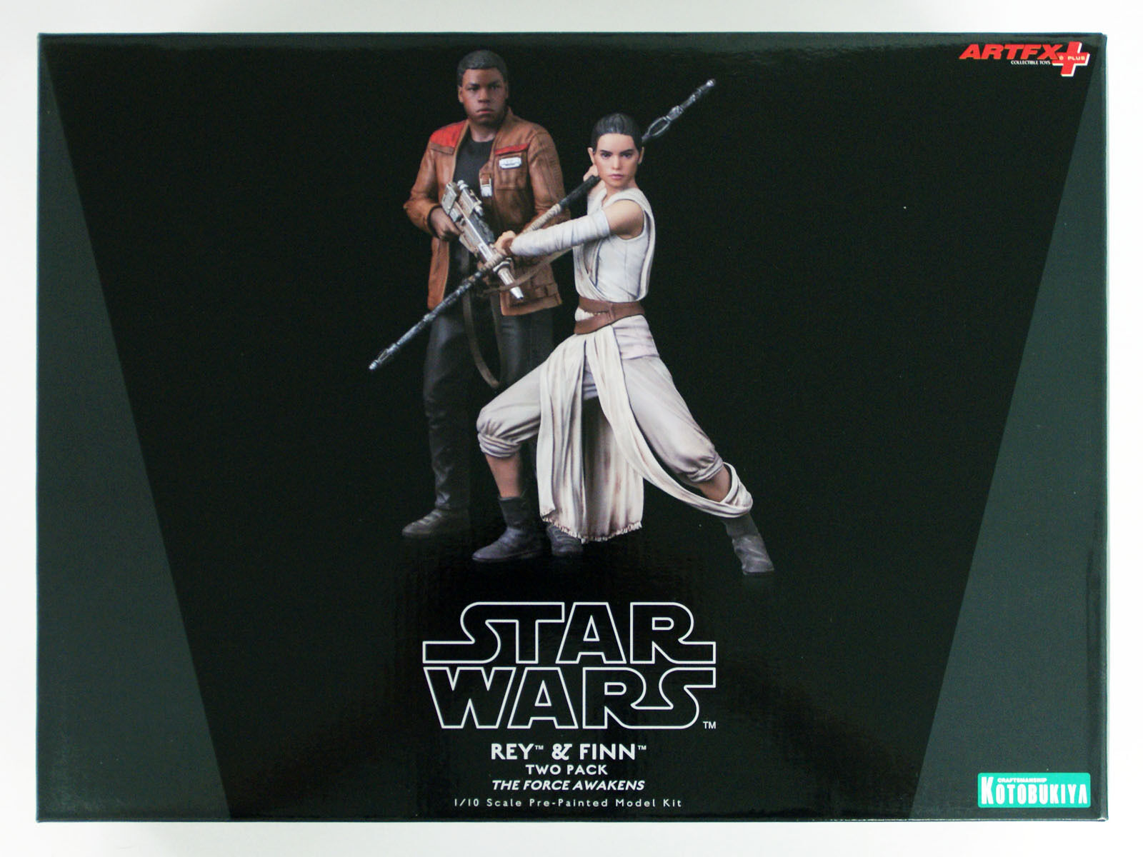 Kotobukiya SW121 ARTFX+ STAR WARS Rey & Finn Set Set Set of 2 1 10 scale Figure cb108b
