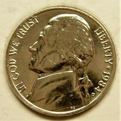 Coin from Bank Roll 1984 D Jefferson Nickel ~ Uncirculated U.S