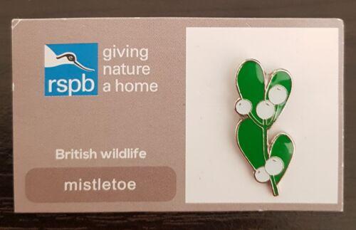 "SAME DAY DISPATCH !! Brand New /""RSPB Mistletoe/"" Pin Badge"