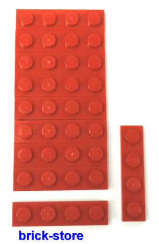 Lego ®//1x4 Plate Red//10 Piece