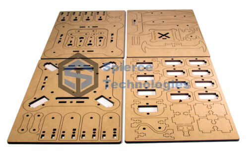 mePed v2 Quadruped Walking Arduino Robot Wood Kit