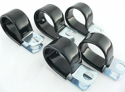 PER-2910 (5) Vinyl Coated Cushion Clamps For -8 AN Fuel Line Hose