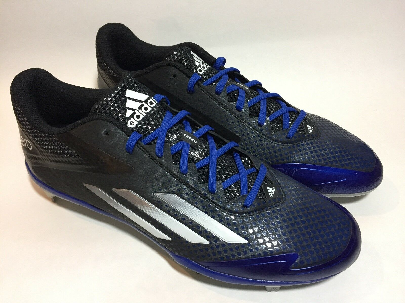 Adidas Mens Soccer Metal Cleats Shoes Adizero Sz 11 Blue Black White  ART D70253 best-selling model of the brand