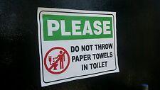 Restroom Toilet Caution Sticker ( 1 pc)   6inx4in
