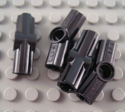 New LEGO Lot of 4 Black Technic Mindstorms Axle Connector Pieces