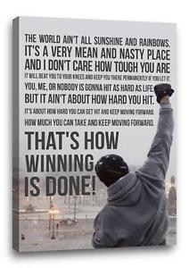 Rocky Quote   Rocky Balboa Famous Movie Quote Canvas Poster Photo Print Wall Art