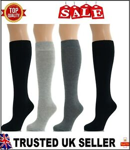 3 PAIRS  Women Girl Ladies Over The Knee Thigh High Long Socks UK size 4-7 DRSM
