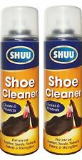 2x Trainer Boot Shoe Cleaner Spray For Fabric Leather Suede Nubuck Microfibre
