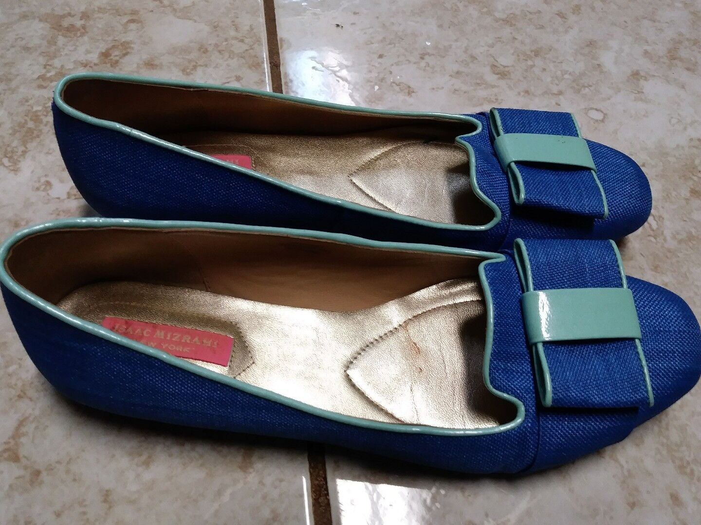 Isaac Mizrahi Mizrahi Isaac KATHARINE 3 Women's Slip On Flats Shoes Blue Fabric Size 8.5 053fc0