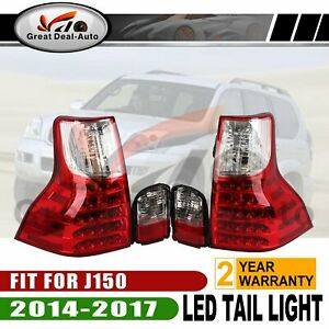 NEW-fit-for-TOYOTA-PRADO-J-150-2014-2017-TAIL-LIGHT-LAMP-SET-Red-Clear-Lens