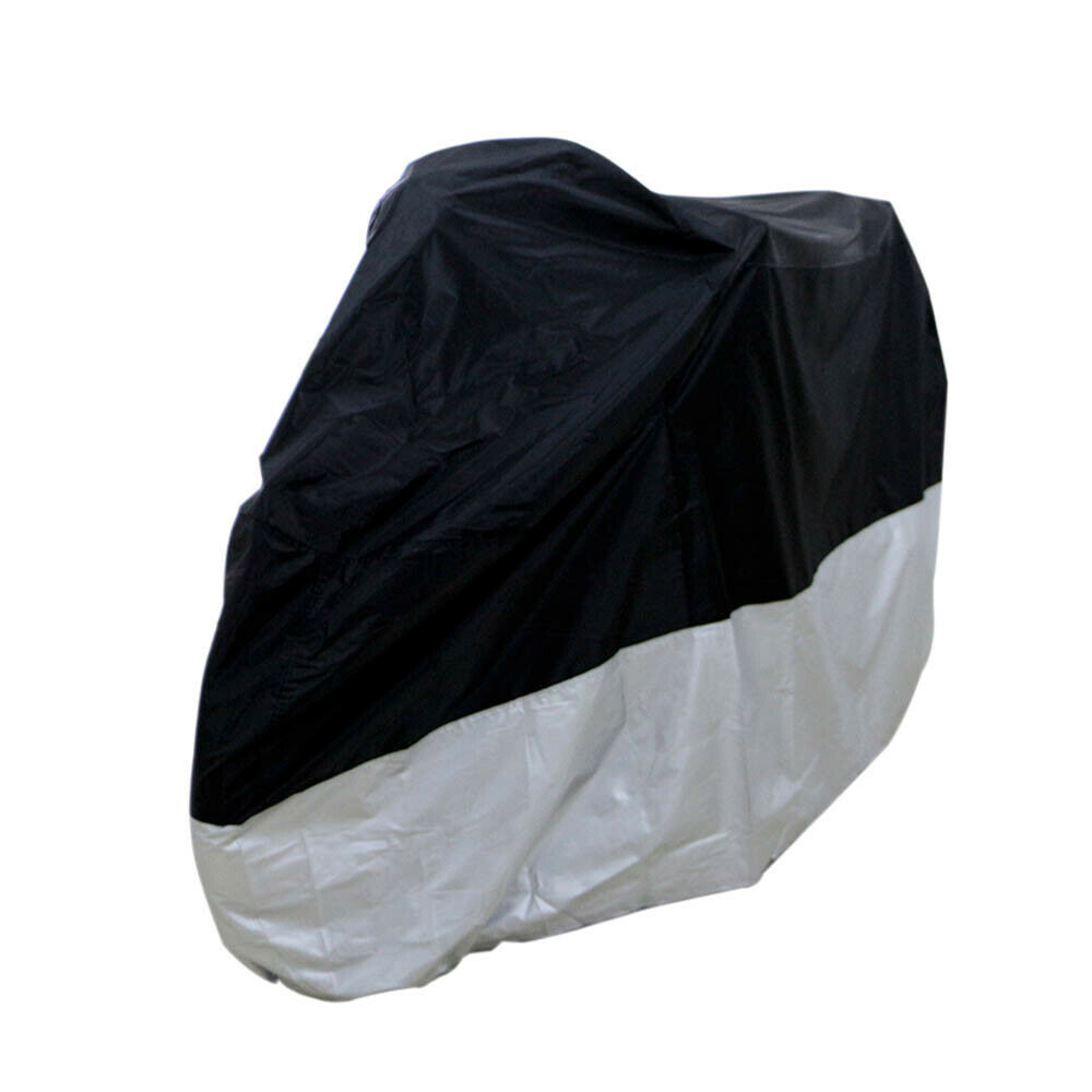 L Black Waterproof Motorcycle Cover Bag Fit Honda CB CBR 300 500 600 900 R RR
