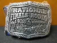 1999 Vintage Hesston National Finals Rodeo Adult Belt Buckle Free Shipping