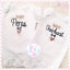 Bodysuit Clothes Grow Embroidered Design Personalised Baby #1 Vest Unisex