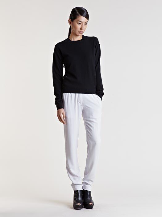 NWOT Ann Demeulemeester PIPPA slim leg relaxed trousers pants BEIGE,sz.40