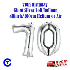 Silver-Foil-Helium-number-balloon-70th-Birthday-Party-40-inch-100cm