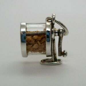 Vintage-STERLING-SILVER-Pencil-Sharpener-MOVABLE-CHARM-Teacher-Gift-MINT-Pendant