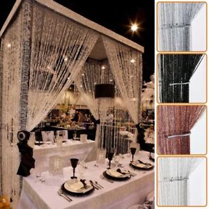 Glitter String Curtain Panels Fly Screen Room Divider Voile