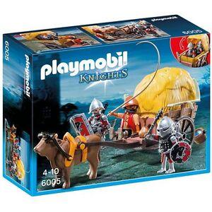 Playmobil-6005-Carruaje-Medieval-de-Campesino-Knights-Tarnkutsche-der-Falkenritt