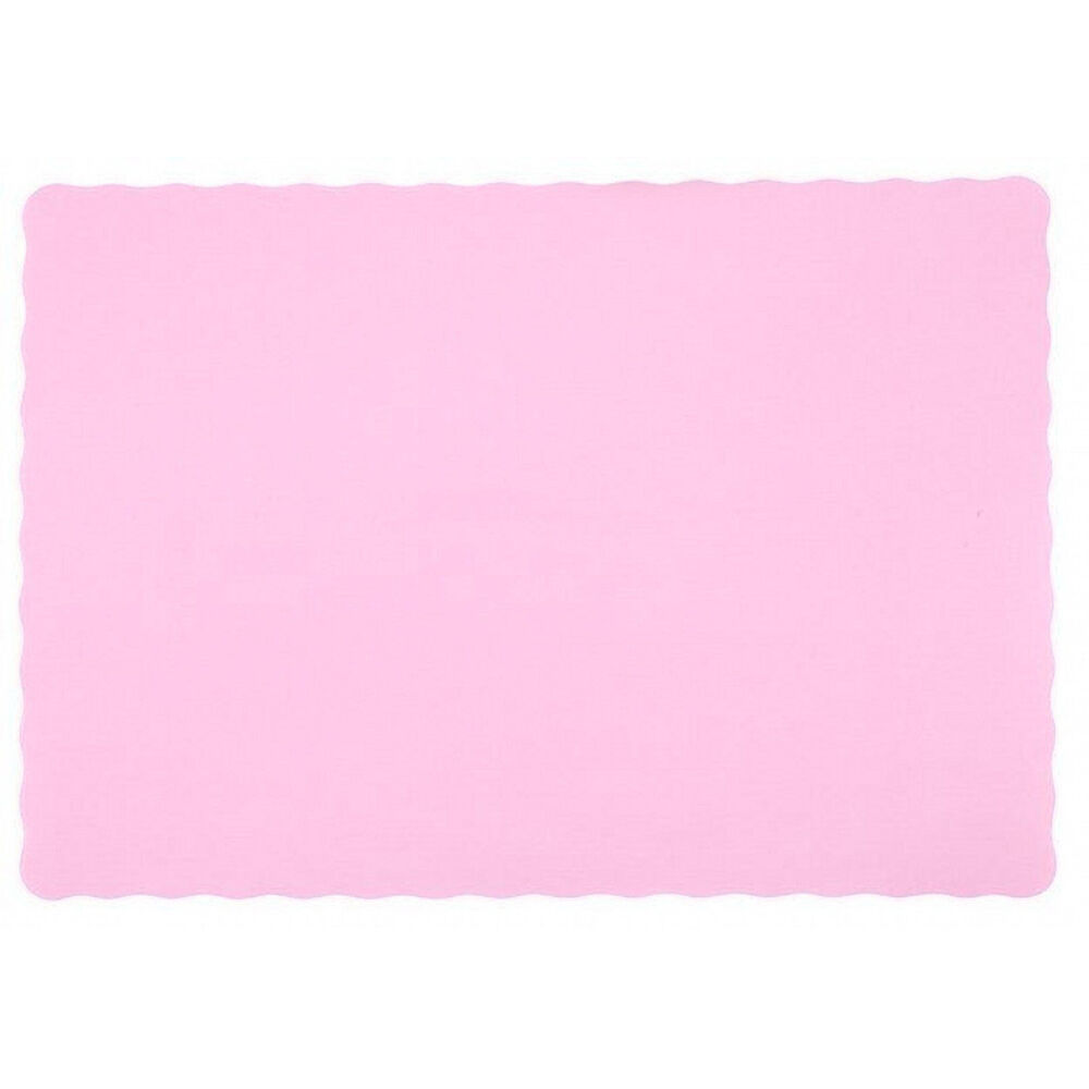 600 Paper Placemats 10  X 14  Dinner Taille 26 Couleurs - rose