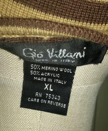 Let Gio Villani Italien Sweater Xl Vneck Kvinder Strik Uld Striped Merino CBUx4BOwq