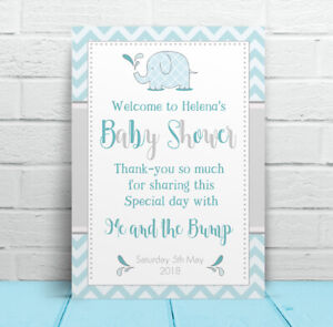 Welcome-to-my-Baby-Shower-Personalised-baby-elephant-Table-Sign-amp-Poem-Poster