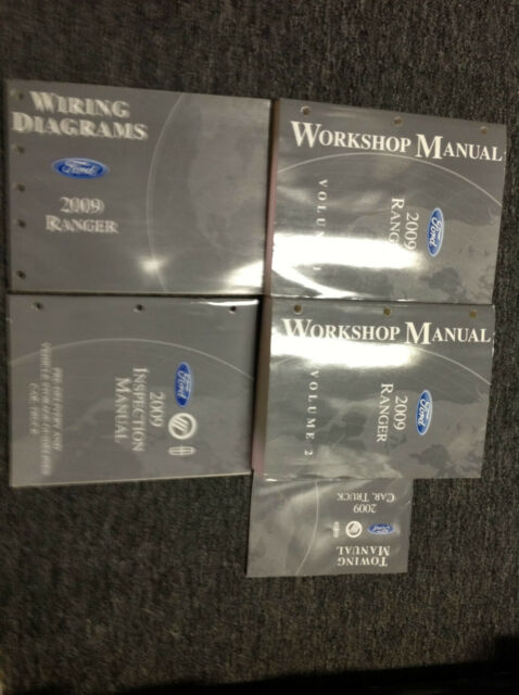 2009 Ford Ranger Truck Service Shop Repair Manual Set W
