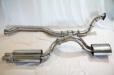 TOG FORD FALCON FG FGX XR6 SEDAN TURBO 4 INCH 102MM STAINLESS TURBO BACK EXHAUST