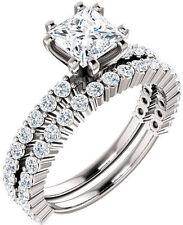 1.01 carat RADIANT cut DIAMOND GIA cert. G color VS1 clarity 14k White Gold Ring