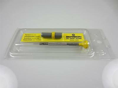 BERGEON 30081-AT-080 0.80MM WATCHMAKERS ERGONOMIC SCREWDRIVER INC SPARE BLADES